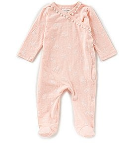Image of Jessica Simpson Baby Girls Newborn-9 Months Floral-Print Footed Coverall