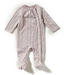 Image of Jessica Simpson Baby Girls Newborn-9 Months Long-Sleeve Footed Coverall