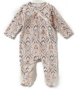 Image of Jessica Simpson Baby Girls Newborn-9 Months Printed Footed Coverall