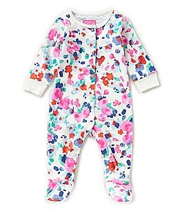 Image of Joules Baby Girls Newborn-12 Months Floral-Print Footed Coverall