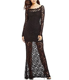 Image of Jump Long Sleeve Lace Long Dress
