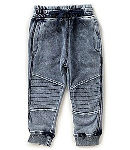 Image of Kapital K Baby Boys 12-24 Months French Terry Moto-Knee Jogger Pants