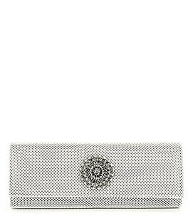 Image of Kate Landry Brooch Ball-Mesh Clutch