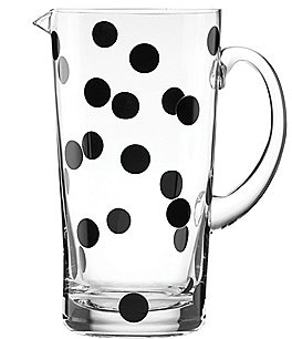 Image of kate spade new york All in Good Taste Deco Dot Glass Pitcher
