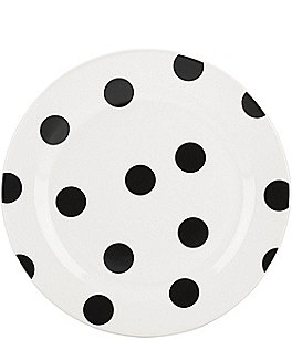 Image of kate spade new york All in Good Taste Black Deco Dot Accent Plate
