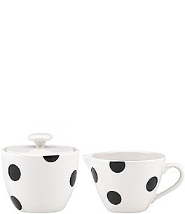 Image of kate spade new york All in Good Taste Deco Dot Stoneware Sugar & Creamer Set