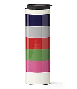 Image of kate spade new york All in Good Taste Rainey Street Striped Travel Tumbler