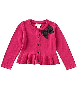 Image of kate spade new york Baby Girls 12-24 Months Bow Peplum Cardigan