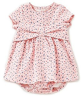 Image of kate spade new york Baby Girls 3-9 Months Short-Sleeve Bow Dress