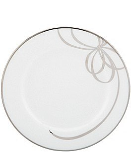 Image of kate spade new york Belle Boulevard Bow Platinum Bread & Butter Plate
