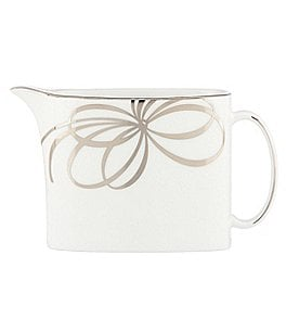 Image of kate spade new york Belle Boulevard Bow Platinum Creamer