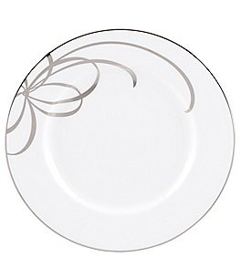 Image of kate spade new york Belle Boulevard Bow Platinum Salad Plate