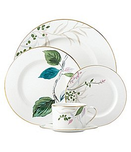 Image of kate spade new york Birch Way Watercolor Floral Bone China 5-Piece Place Setting
