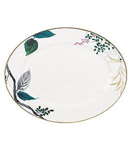 Image of kate spade new york Birch Way Watercolor Floral Bone China Oval Platter