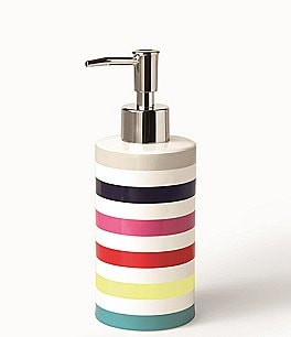 Image of kate spade new york Candy Stripe Lotion Dispenser