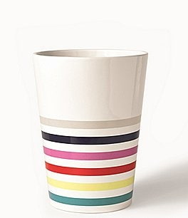 Image of kate spade new york Candy Stripe Wastebasket