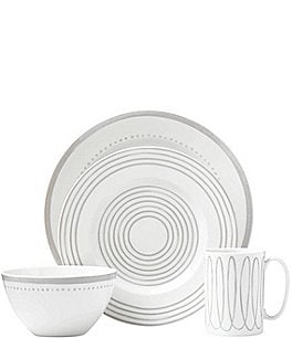 Image of kate spade new york Charlotte Street Porcelain 4-Piece Place Setting