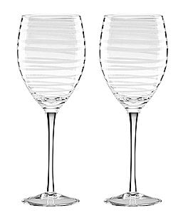 Image of kate spade new york Charlotte Street Spiral Wine Glass Pair