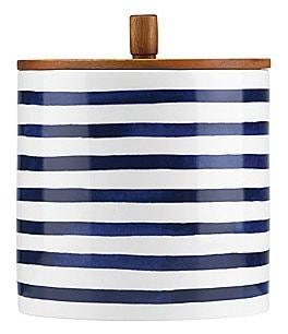 Image of kate spade new york Charlotte Street Striped Canister