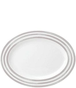 Image of kate spade new york Charlotte Street Striped Porcelain Oval Platter