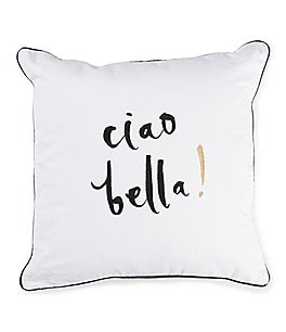 Image of kate spade new york Ciao Bella Square Pillow