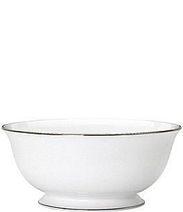 Image of kate spade new york Cypress Point China Striped Platinum Serving Bowl