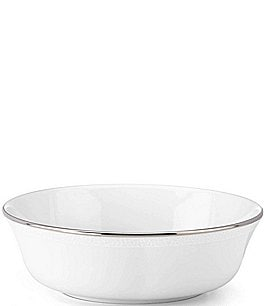 Image of kate spade new york Cypress Point Striped Platinum All-Purpose Bowl