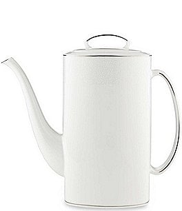 Image of kate spade new york Cypress Point Striped Platinum Coffeepot