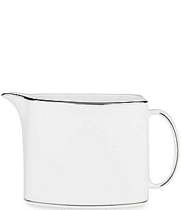 Image of kate spade new york Cypress Point Striped Platinum Creamer