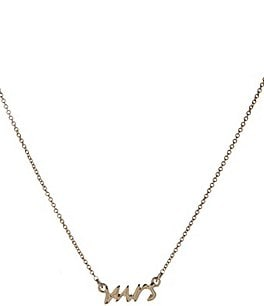 Image of kate spade new york Delicate Mrs. Necklace