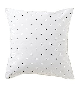 Image of kate spade new york Dot-Embroidered Euro Sham
