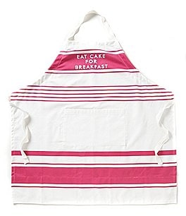 Image of kate spade new york Eat Cake for Breakfast Striped Apron