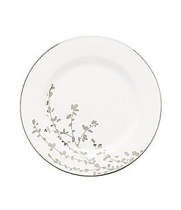 Image of kate spade new york Gardner Street Platinum Branches Bone China Bread & Butter Plate