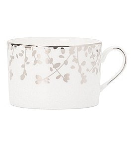 Image of kate spade new york Gardner Street Platinum Branches Bone China Cup