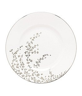 Image of kate spade new york Gardner Street Platinum Branches Bone China Dinner Plate
