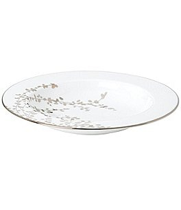 Image of kate spade new york Gardner Street Platinum Branches Bone China Rimmed Soup Bowl