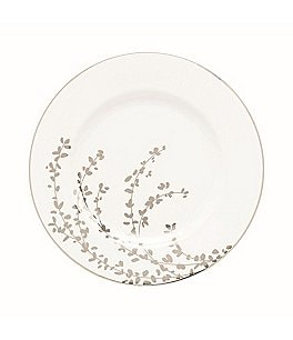 Image of kate spade new york Gardner Street Platinum Branches Bone China Salad Plate