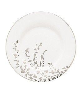 Image of kate spade new york Gardner Street Platinum Branches Bone China Saucer