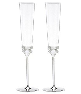 Image of kate spade new york Grace Avenue Bow Wedding Toast Flute Pair