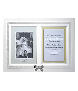 "Image of kate spade new york Grace Avenue Double 5x7"" Invitation Frame"