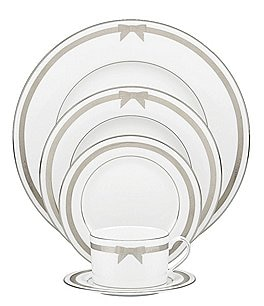 Image of kate spade new york Grace Avenue Grosgrain Bow 5-Piece Place Setting