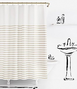 Image of kate spade new york Harbour Stripe Shower Curtain