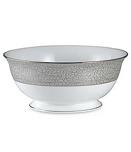 Image of kate spade new york June Lane Dragonfly Wing Platinum Bone China Serving Bowl