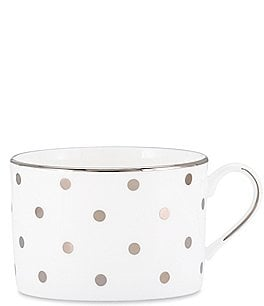 Image of kate spade new york Larabee Road Dotted Platinum Bone China Teacup
