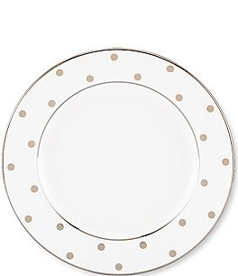 "Image of kate spade new york Larabee Road Platinum China 6"" Bread and Butter Plate"