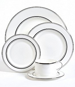 Image of kate spade new york Library Lane Platinum 5-Piece Place Setting