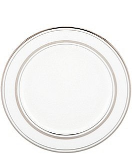 Image of kate spade new york Library Lane Platinum Bread and Butter Plate