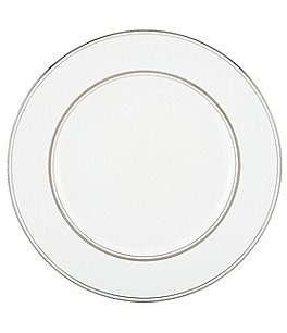 Image of kate spade new york Library Lane Platinum-Striped Dinner Plate