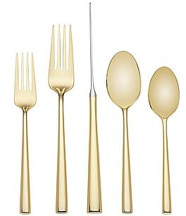 Image of kate spade new york Malmo Gold-Tone 5-Piece Stainless Steel Flatware Set
