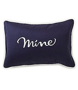 Image of kate spade new york Mine-Embroidered Linen & Cotton Pillow